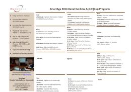 SmartAge 2014 Genel Katılıma Açık Eğitim Programı