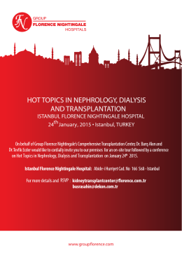 hot topıcs ın nephrology, dıalysıs and transplantatıon