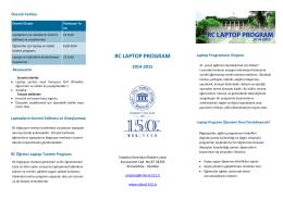 Veli Tanıtım Broşürü 2014-15
