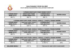 360 TL 360 TL 360 TL - Galatasaray Spor Okulları