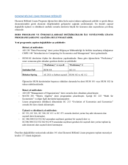 Ders programı ve önkoşullardaki değişiklikler ile yenilenmiş lisans