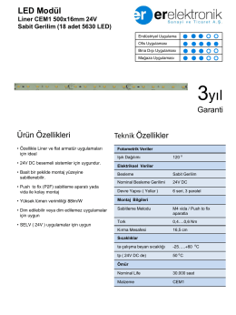 Liner CEM1 500x16mm 24V Sabit Gerilim (18 adet