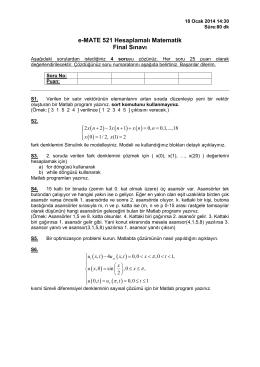 18.01.2014 Final Sınavı