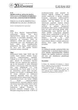 p-19 mediyastinal kitleye bağlı vena kava süperior sendromlu