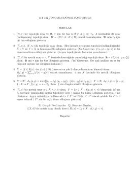 2014 Final Sınavı Soruları