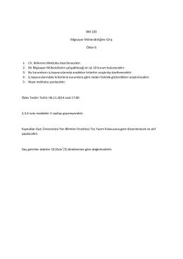 BM 103 Bilgisayar Mühendisliğine Giriş Ödev-6 1
