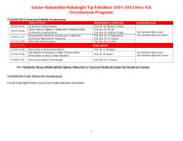 Emine-‐Bahaeddin Nakıboğlu Tıp Fakültesi 2014