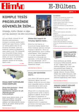 Elektronik Bülten 2014/1