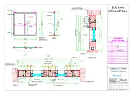 EI30 sınıfı çift kanatlı kapı - Sistem Grup Balistik Cephe Sistemleri