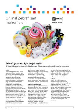 Orijinal Zebra® sarf malzemeleri