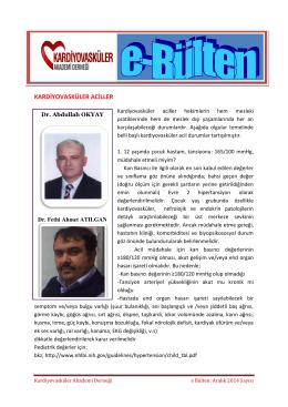 Dr. Abdullah Okyay - Kardiyovasküler Akademi Derneği