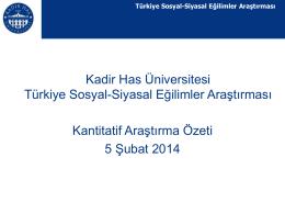 Türkiye Sosyal-Siyasal Eğilimler Araştırması