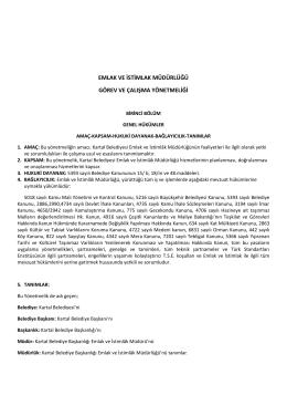 emlak ve istimlak müdürlüğü görev ve çalışma