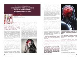cep telefonlarının beyin üzerine termal etkisi ve kandaki