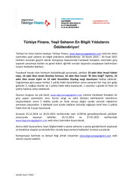 Türkiye Finans, Yeşil Sahanın En Bilgili Yıldızlarını Ödüllendiriyor!