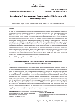 Nutritional and Antropometric Parameters in COPD Patients with