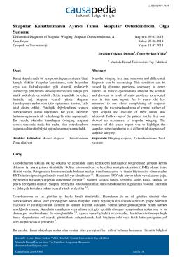 Skapular Osteokondrom, Olgu Sunumu