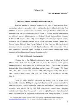 Türkçede Çatı - Prof. Dr. Mehman Musaoğlu Musayev