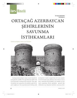 ortaçağ azerbaycan şehirlerinin savunma istihkamları