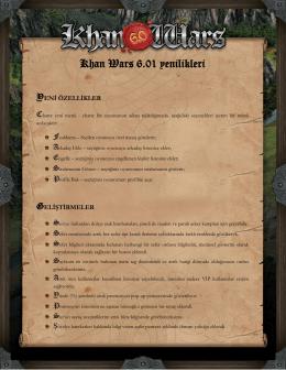 Khan Wars 6.01 yenilikleri