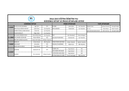 2014-2015 Eğitim Öğretim Yılı 5,6,7 ve 8. Sınıflar Güdümlü Kitap ve