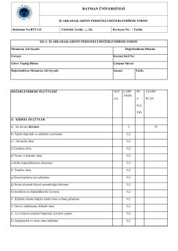 iş arkadaşlarının personeli değerlendirme formu 272,48 kb pdf