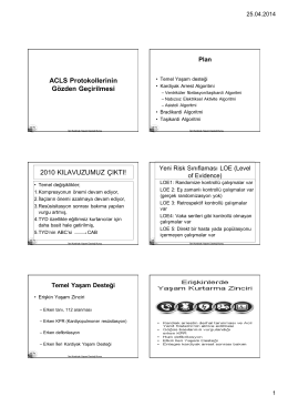 ACLS Protokollerinin Gözden Geçirilmesi 2010