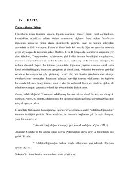 ıv. hafta - Ankara Üniversitesi Açık Ders Malzemeleri