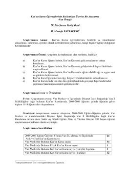 IV. Din Şurası Tebliğ Özeti M. Mustafa