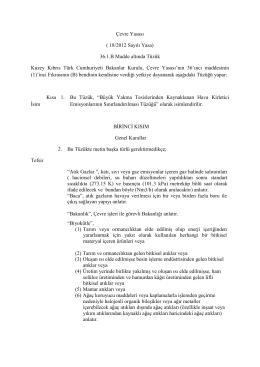 Çevre Yasası - Cevre Koruma Dairesi