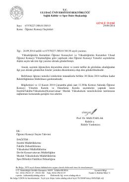 Duyuru 1 - Uludağ Üniversitesi Tekstil Mühendisliği