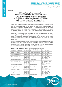 The PRESIDENTIAL CYCLING TOUR OF TURKEY WILL BE A