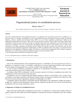 Organizational justice in coordination process