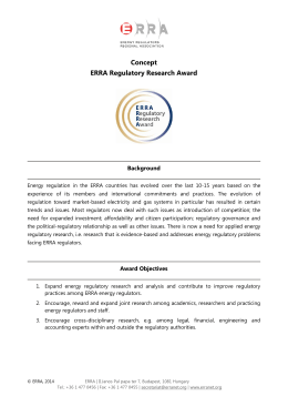 Concept ERRA Award for 2014