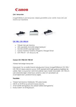 CR-190i / CR-190i UV Yüksek hızlı çek tarama 250 yapraklık