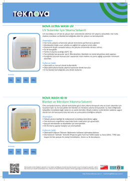 NOVA ULTRA WASH UV UV Sistemler İçin Yıkama