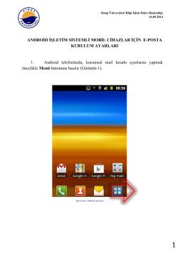 Android İşletim Sistemlerinde e-Posta Ayarları nasıl yapılır?