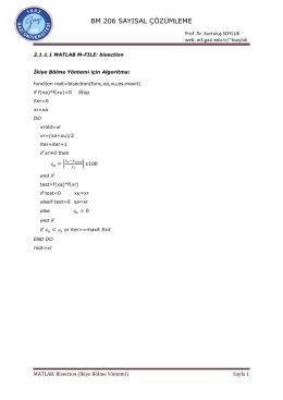 bm 206 sayısal çözümleme