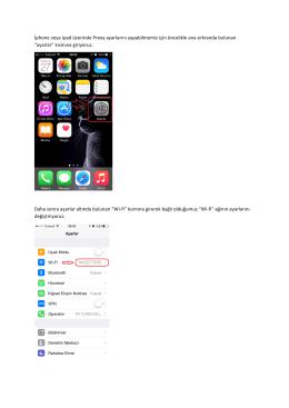 Iphone Kullanıcıları İçin Proxy Ayarları Rehberi