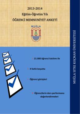 2013-2014 Öğrenci Memnuniyet Anketi