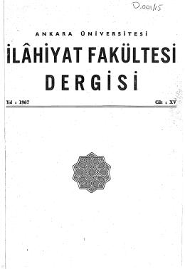 ILAHIYAT FAKULTE ·1 DERGISI . . .