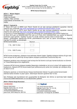 Şirket Ünvanı: Yetkili Adı-Soyadı: Telefon / Faks / E