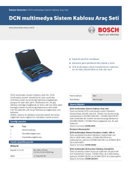 DCN multimedya Sistem Kablosu Araç Seti