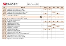 2014 Güncel Eğitim Programımız
