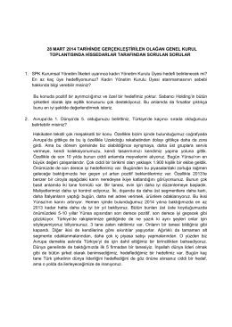 28 mart 2014 tarihinde gerçekleştirilen olağan genel kurul