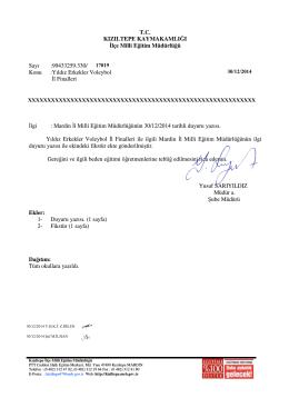 v - Kızıltepe İlçe Milli Eğitim Müdürlüğü