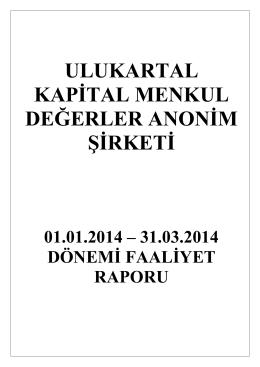 Faaliyet Raporu - ulukartalkapital.com.tr