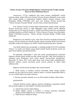 Türkiye Sermaye Piyasaları Birliği Bağımsız Yönetim