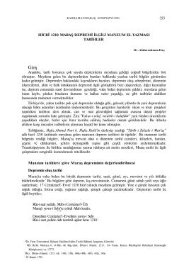 Dr. Abdurrahman Daş - Kahramanmaraş Büyükşehir Belediyesi