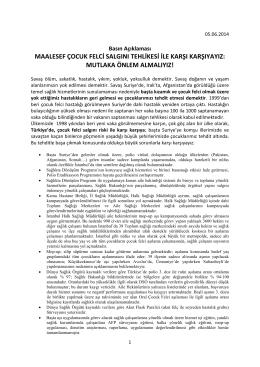 Basın Açıklaması - İstanbul Tabip Odası